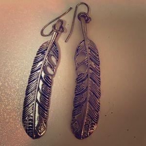 Lovely feather earrings